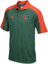 adidas Men's Miami Hurricanes Sideline Polo Shirt