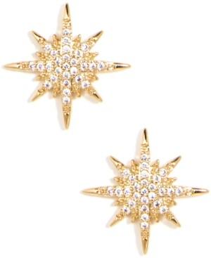 Zenzii Gold-Tone Pave Celestial Stud Earrings