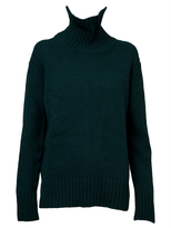 &Daughter Ribbed Collar Knit Sweater - Green