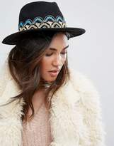 Brixton Fedora Hat With Embroidered Band