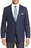 Hickey Freeman Men's 'Beacon' Classic Fit Windowpane Wool Sport Coat