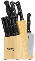 Ginsu Essential Series 10-Piece Knife Block Cutlery Set in Black