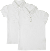 Marks and Spencer 2 Pack Girls' Cotton Rich Ruched Tops