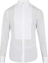 Giorgio Armani Double-cuff pleated-bib cotton dinner shirt