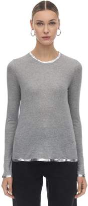 Zadig & Voltaire Zadig&Voltaire Long Sleeve Modal Jersey Top