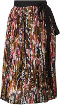 Marni tie waist wrap skirt - women - Silk - 40