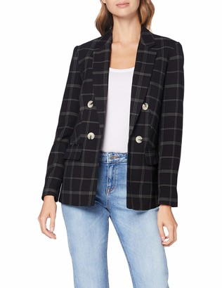 Dorothy Perkins Women's Black Edit Grid Check Jacket 10