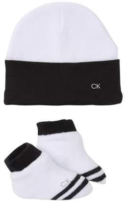 Calvin Klein Hat & Socks Set (Baby Boys 0-6M)