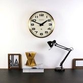 Graham and Green The Brixton Clock In Brass And White
