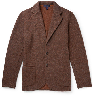 Lardini Unstructured Donegal Knitted Blazer