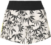 The Upside Bamboo Cruise Printed Stretch-jersey Shorts - Black