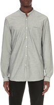 The Kooples Classic-fit cotton and leather shirt