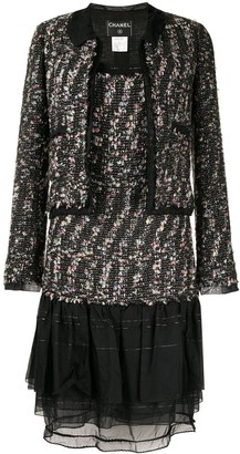 Chanel Pre-Owned ruffled details tweed jacket and dress set