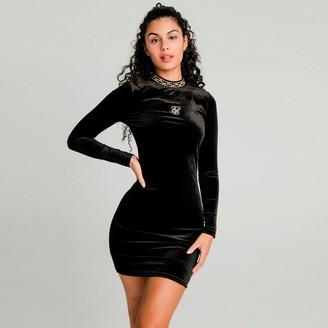 SikSilk Women's Velour Dress