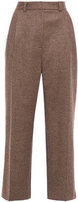 Racil Pleated Houndstooth Wool Wide-leg Pants