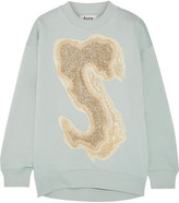 Acne Studios Karvel Oversized Appliquéd Cotton-blend Sweatshirt - Sky blue