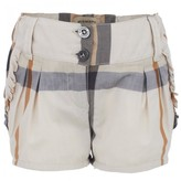 Burberry Cream nova check shorts