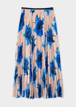 Paul Smith Women's 'Monarch Rose' Print Pleated Skirt