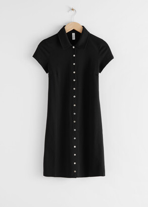 And other stories Button Up Mini Dress