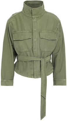 Frame Belted Cotton-canvas Jacket