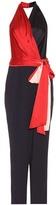 Diane von Furstenberg Satin wrap jumpsuit