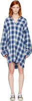 R 13 Blue Plaid Axl Button-Down Shirt