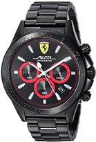 Ferrari Scuderia Men's 'PILOTA' Quartz Resin Casual Watch, Color:Black (Model: 0830390)