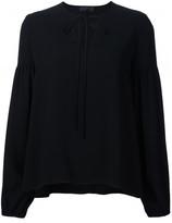 Co bell longsleeved V-neck blouse
