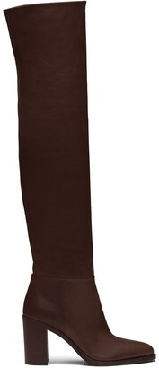 Prada Knee-Length Mid-Heeled Boots