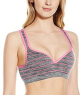 Flex Women's Stripped Push-Up Sports Bra