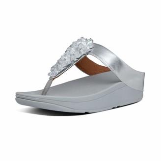 FitFlop Women's FINO Sequin Toe-Thong Flip-Flop