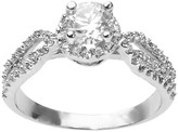 Journee Collection 1 3/8 CT. T.W. Round Cut CZ Pave Set Halo Ring in Sterling Silver - Silver