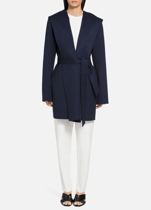 St. John Luxe Wool Cashmere Wrap Coat