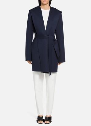 St. John Luxe Wool Cashmere Wrap Coat
