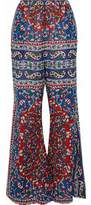 Mes Demoiselles Printed Cotton-Blend Gauze Flared Pants