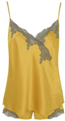 George Mustard Yellow Lace Short Pyjamas
