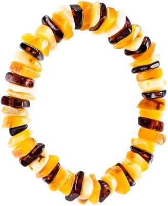 Be Jewelled Be-Jewelled Amber Stretch Bracelet, Multi