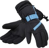 Simplicity Women 3M Thinsulate Lined Waterproof Snowboard /Ski Gloves,M,Bl/Blue
