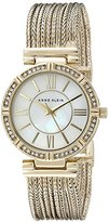 Anne Klein Women's AK/2144MPGB Swarovski Crystal Accented Gold-Tone Chain Bracelet Watch