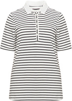 Via Appia Plus Size Striped cotton polo