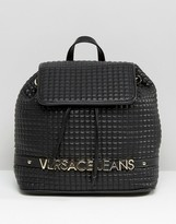 Versace Backpack with Gold Letters