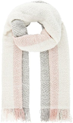 Monsoon Colourblock Blanket Scarf - Pink