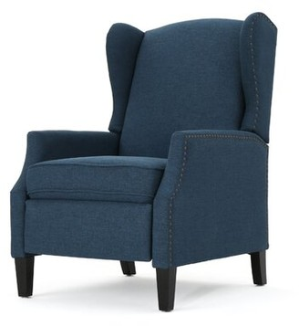 Andover Mills Lamontagne Manual Recliner Fabric: Charcoal Polyester Blend