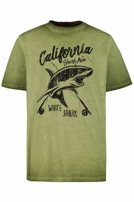 JP 1880 Men's Big & Tall T-Shirt Moss Green XX-Large 726692 46-XXL