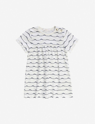 Chloé Wave stripe-print cotton-jersey dress 6-36 months