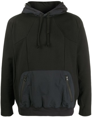 White Mountaineering Contrast Fitted Hoodie