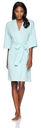 Mae Amazon Brand Women's French Terry Kimono Knee-Length Robe