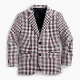 J.Crew Boys' Ludlow suit jacket in puckered gingham
