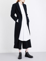 Yohji Yamamoto Kick-pleat tailored wool-blend coat