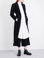 Yohji Yamamoto Kick-pleat tailored wool-blend coat